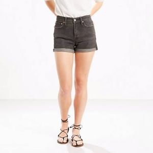 Levi's || Dark Grey Rolled Jean Shorts